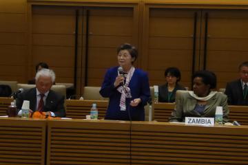 Dr. Yoshiko Nakano delivering her keynote speech
