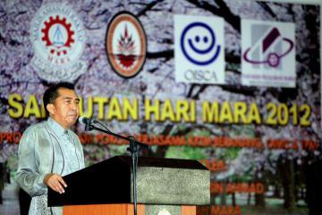 Director General YBhg Datuk Ibrahim B Ahmad rendering his speech during the ceremony.
